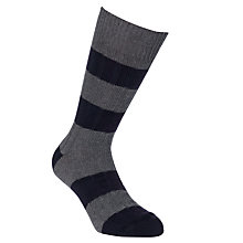 Buy JOHN LEWIS & Co. Rugby Stripe Socks Online at johnlewis.com