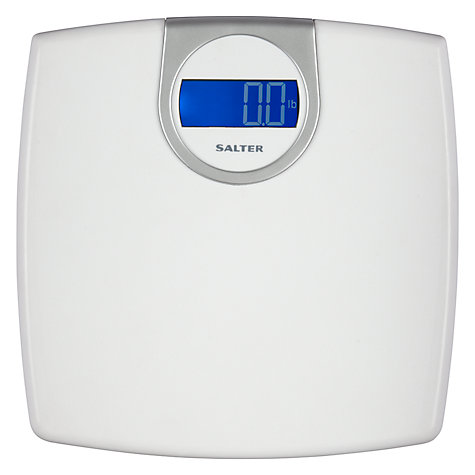 Buy Salter Electronic Digital Bathroom Scale, White Online at johnlewis.com