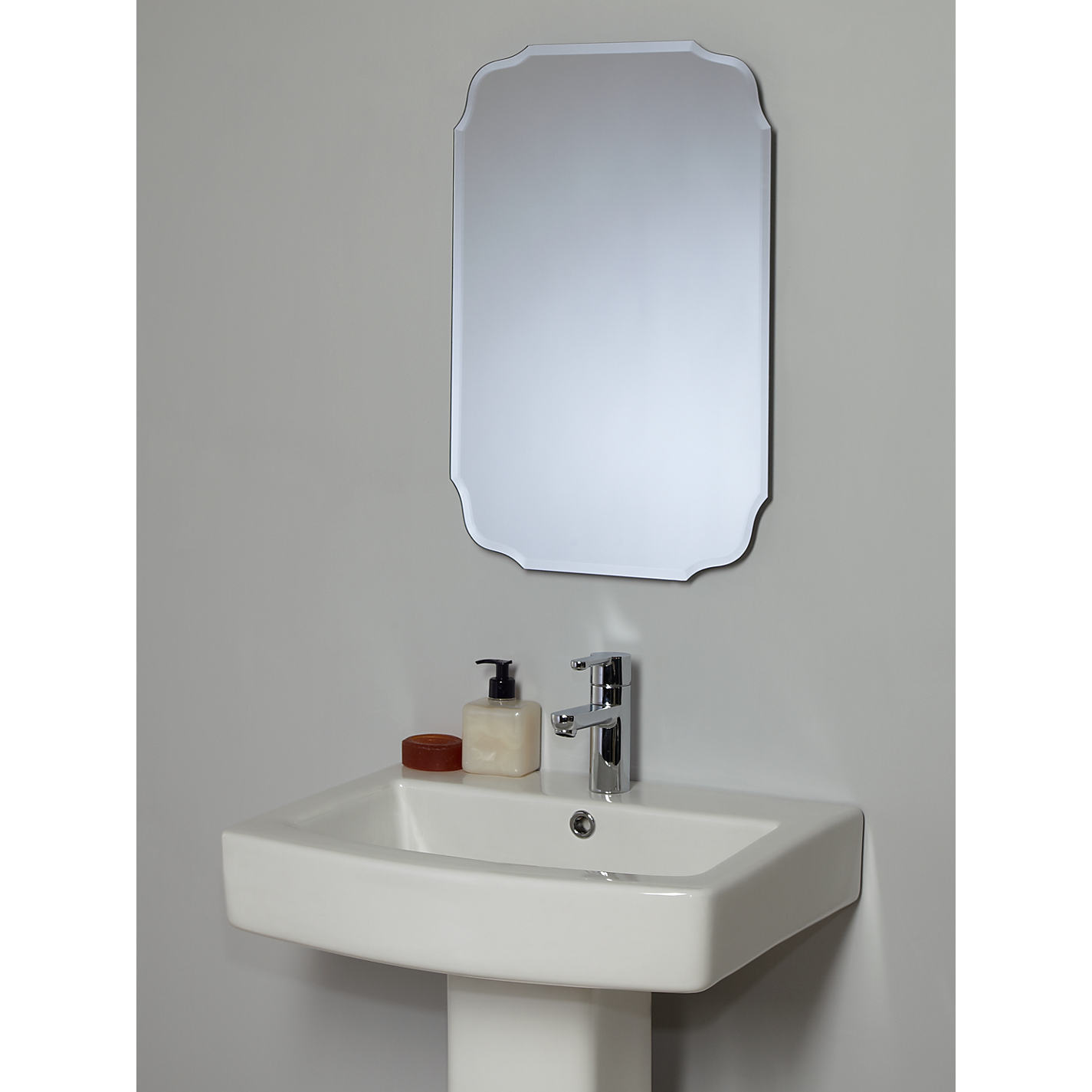Double Mirrors With Two Sconces For Each To plete Long Bathroom
