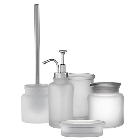 Buy John Lewis Frosted Glass Bathroom Accessories Online at johnlewis ...