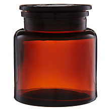 Buy John Lewis Amber Glass Storage Jar, Small Online at johnlewis.com