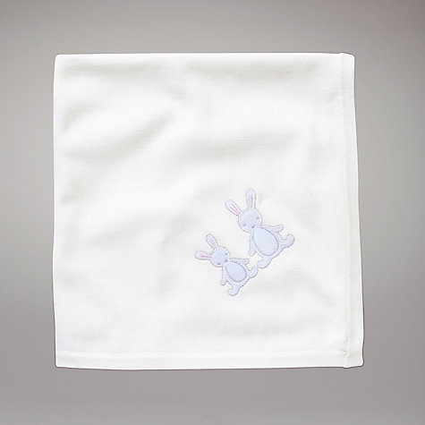 Buy John Lewis Baby Rabbit Shawl, White Online at johnlewis.com
