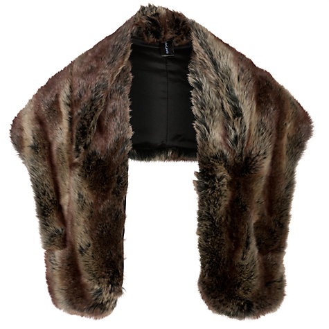 Buy John Lewis Faux Fur Wrap, Beige Online at johnlewis.com