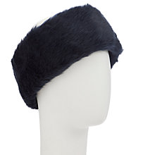 Buy John Lewis Faux Fur Head Band, Navy Online at johnlewis.com