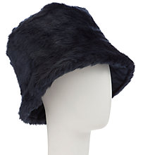 Buy John Lewis Reversible Quilted Hat, Navy Online at johnlewis.com