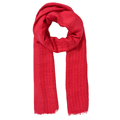 Buy Collection WEEKEND by John Lewis Plain Basket Weave Scarf Online at johnlewis.com