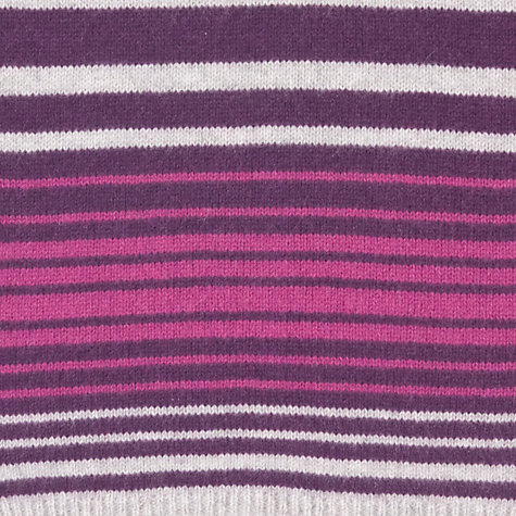 Buy John Lewis Cashmere Stripe Scarf, Purple Online at johnlewis.com