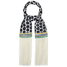 Buy White Stuff Spots and Stripe Scarf, Multi Online at johnlewis.com