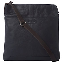 Buy White Stuff Issy Leather Across Body Bag, Navy Online at johnlewis.com