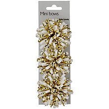 Buy John Lewis Mini Snowstorm Gift Bows, Gold, Pack of 3 Online at johnlewis.com