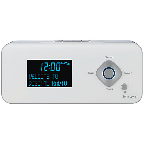 Buy John Lewis Nova DAB/FM Bluetooth Mini Clock Radio Online at johnlewis.com