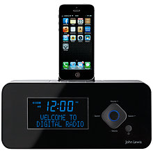 Buy John Lewis Nova DAB/FM Bluetooth Mini Clock Radio Dock with Apple Lightning Online at johnlewis.com