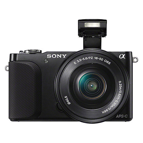 "Buy Sony NEX-3N Compact System Camera with 16-50mm & 55-210mm PZ Lenses, 1080p, 16.1MP, 3"" LCD Screen Online at johnlewis.com"