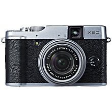 "Buy Fujifilm Finepix X20 Digital Camera, HD 1080p, 12MP, 4x Optical Zoom with 2.8"" LCD Screen with 16GB + 8GB Memory Card Online at johnlewis.com"
