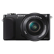 "Buy Sony NEX-3N Compact System Camera with 16-50mm PZ Lens, 1080p, 16.1MP, 3"" LCD Screen Online at johnlewis.com"