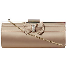 Buy Dune Balli Satin Bow Diamonte Clutch Bag Online at johnlewis.com