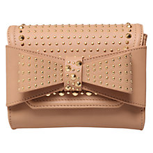 Buy KG by Kurt Geiger Leather Stud Bow Clutch Online at johnlewis.com