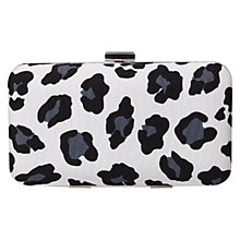 Buy KG by Kurt Geiger Leopard Hard Case Clutch Bag Online at johnlewis.com