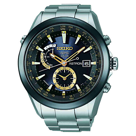 Buy Seiko Astron Men's Titanium GPS Solar Watch Online at johnlewis.com