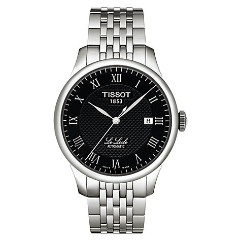 Buy Tissot T41148353 Men's Le Locle Automatic Watch, Silver / Black Online at johnlewis.com