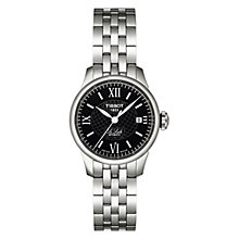 Buy Tissot T41118353 Women's Le Locle Automatic Watch, Black / Silver Online at johnlewis.com