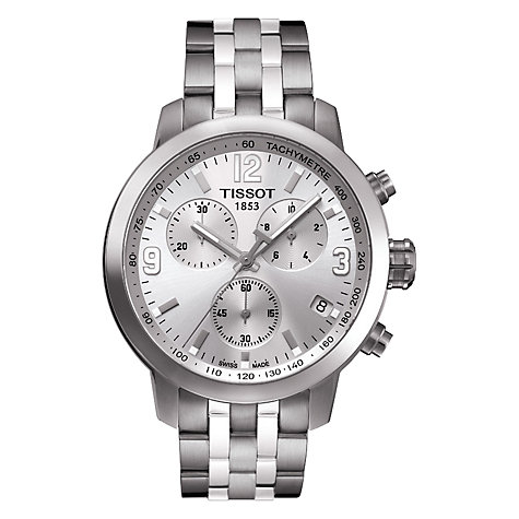 Buy Tissot T0554171103700 Men's T Sport Chronograph Watch, Silver Online at johnlewis.com