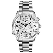 Buy Bulova 96B183 Men's Precisionist Chronograph Stainless Steel Watch, Silver Online at johnlewis.com