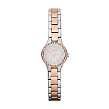 Buy DKNY NY8811 Women's Two Tone Mother of Pearl Watch, Silver / Rose Gold Online at johnlewis.com