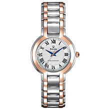 Buy Bulova 97L170 Women's Two Tone Guilloche Dial Watch, Silver / Gold Online at johnlewis.com