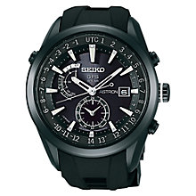 Buy Seiko Astron SAST0011G Men's Stainless Steel GPS Solar Watch, Black Online at johnlewis.com