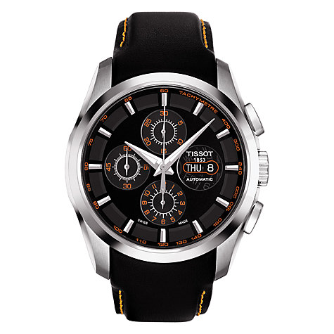 Buy Tissot T0356141605101 Men's Valjoux Chronograph Watch, Silver Online at johnlewis.com