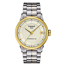 Buy Tissot T0862072226100 Women's Luxury Stainless Steel Bracelet Watch, Silver / Gold Online at johnlewis.com
