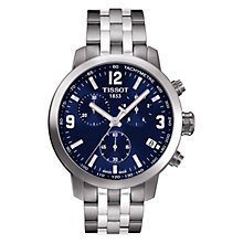Buy Tissot T0554171104700 PRC2000 Men's Stainless Steel Chronograph Watch, Blue Online at johnlewis.com