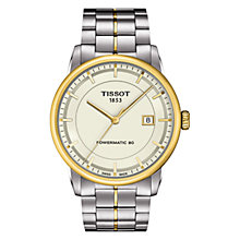 Buy Tissot T0864072226100 Men's Luxury Automatic Two-Tone Watch, Silver / Gold Online at johnlewis.com