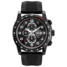 Buy Bulova 98C112 Men's Marine Star Chronograph Watch, Black Online at johnlewis.com