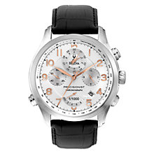 Buy Bulova 96B182 Mens Precisionist Wilton Chronograph Watch, Silver / Rose Gold Online at johnlewis.com