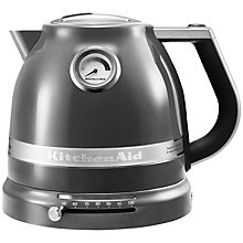 Buy KitchenAid Artisan Kettle and 2-Slice Toaster, Medallion Silver Online at johnlewis.com