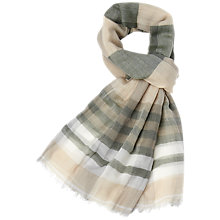Buy Aquascutum Check Stripe Scarf, Beige Online at johnlewis.com