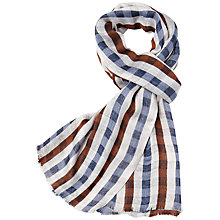 Buy Aquascutum Club Checked Scarf, Vicuna Online at johnlewis.com