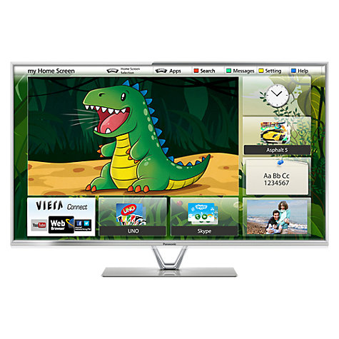 "Buy Panasonic Viera TX-L47DT65B LED HD 1080p 3D Smart TV, 47"" with Freeview/Freesat HD & 4x 3D Glasses Online at johnlewis.com"