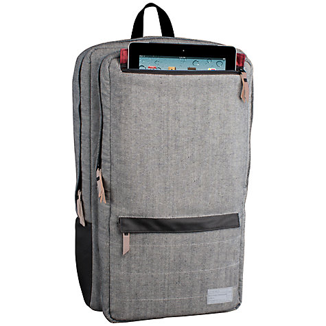 "Buy Hex Academy Sonic Backpack for MacBook Pro 17"" and iPad, Grey Denim Online at johnlewis.com"