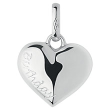 Buy Links of London Large Birthday Heart Charm, Silver Online at johnlewis.com