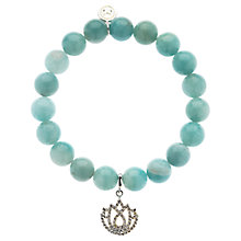 Buy Melissa Odabash Lotus Charm Bead Bracelet, Green Online at johnlewis.com