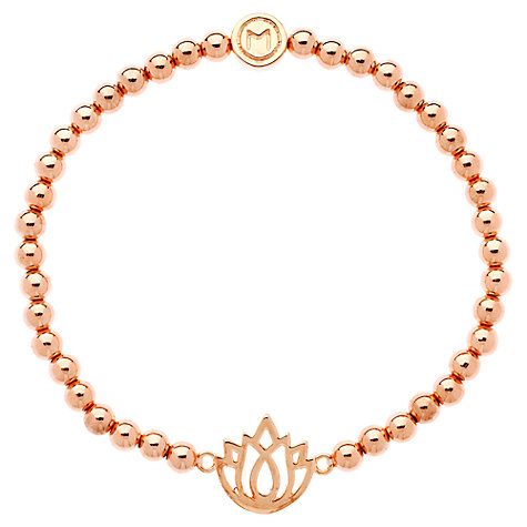Buy Melissa Odabash Rose Gold Plated Lotus Ball Bracelet Online at johnlewis.com