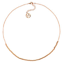 Buy Melissa Odabash Rose Gold Plated Tube Necklace Online at johnlewis.com