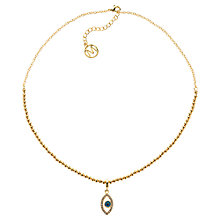 Buy Melissa Odabash Gold Plated Evil Eye Pendant Online at johnlewis.com
