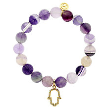 Buy Melissa Odabash Hand of Hamsa Bead Bracelet, Purple Online at johnlewis.com
