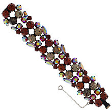Buy Eclectica 1950s Regency Fiery Rhinestone Bracelet, Rust Online at johnlewis.com
