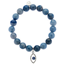 Buy Melissa Odabash Evil Eye Charm Bead Bracelet, Blue Online at johnlewis.com