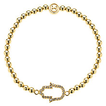 Buy Melissa Odabash Gold Plated Hand of Hamsa Ball Bracelet Online at johnlewis.com